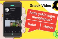 Cara Menghapus Video di Snack Video Secara Permanen