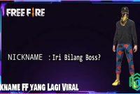 Nickname FF yang Lagi Viral