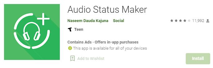 aplikasi Audio Status Maker