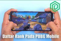 Daftar Rank Pada PUBG Mobile