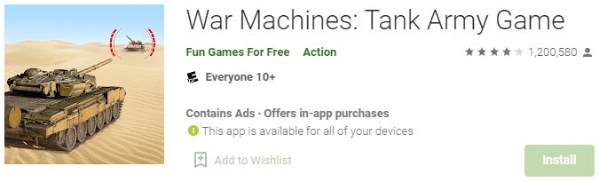 daftar game perang untuk smartphone android